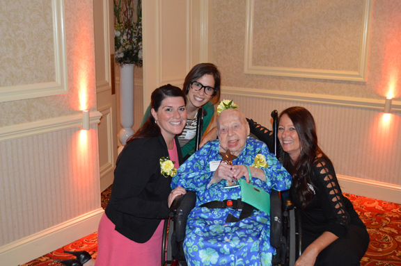Anna Trocino and Hillary Gozigian of the American Cancer Society of the Hudson Valley with Vicky Padworski and Joann Murray, recipients of the Dream Maker, Dreamer, and Dream Catcher Awards.
