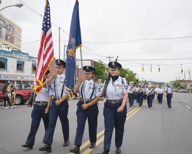 Members of the Newburgh Free Academy Air Force JROTC. Hudson Valley Press/CHUCK STEWART, JR.