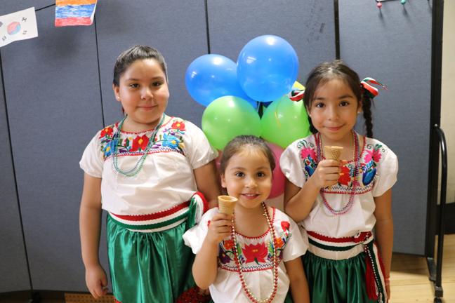 Tania, Ruby and Esmeralda Hidalgo Trejo at Head Start's Multicultural & Literacy Night.