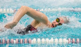 A busy stretch for the Vassar College women's swimming and diving team finally came to an end on Saturday, as the Brewers took third at the Skidmore College Sprint Invitational in action from Saratoga Springs, NY.