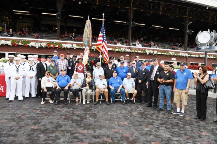 The New York Racing Association, Inc. (NYRA) paid tribute to the nation's service members and veterans during Military Appreciation Day.