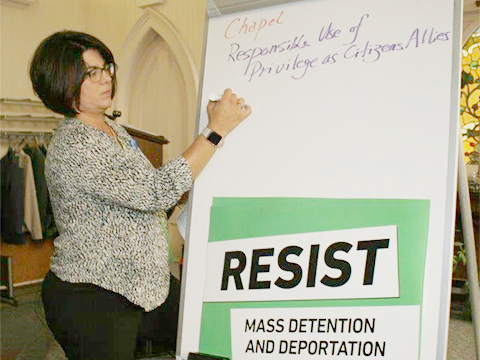 New York Civil Liberties Union Regional Director Shannon Wong attended a teach-in/symposium in Middletown to address the zero tolerance policy of the Trump Administration. Wong said service providers and criminal justice professionals were not prepared for the impacts of the zero tolerance policy. Shannon Wong, sees some signs of improving conditions for those detained.
