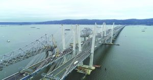 This aerial view shows the brand new Mario M. Cuomo Bridge during the grand opening ceremony hosted by Governor Andrew M. Cuomo on Friday. The bridge, which crosses the Hudson River and connects Westchester and Rockland Counties, is named after the current governor's father, the late Mario M. Cuomo, who served as the 52nd Governor of New York from 1983 to 1994. Photo: Kevin Coughlin