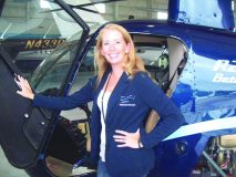 Heather Howley, owner of Independent Helicopters, based at Stewart International as well as Saratoga Airports.
