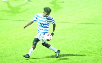 Senior Bereket Watts scored two goals and freshmen Connor Doyle and Matthew Wyant scored their first career goals as the Mount Saint Mary College Men's Soccer team scored a 5-3 win at Alfred in the consolation game of the Alfred University Tournament Sunday afternoon.