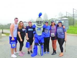 Mount Saint Mary College students, faculty, and staff volunteered at and participated in the Bishop Dunn Memorial School's Cupcake 5K Run/Walk on Sunday, September 16, including Kelly Yough, Dean of Student Affairs (second from the right).