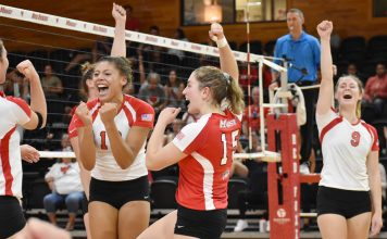 Marist volleyball opened up Metro Atlantic Athletic Conference play, defeating Canisius 3-1 at McCann Arena