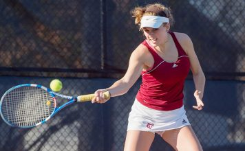The Vassar College women's tennis team concluded the season-opening Vassar Scramble on Sunday at the Josselyn Tennis Courts.
