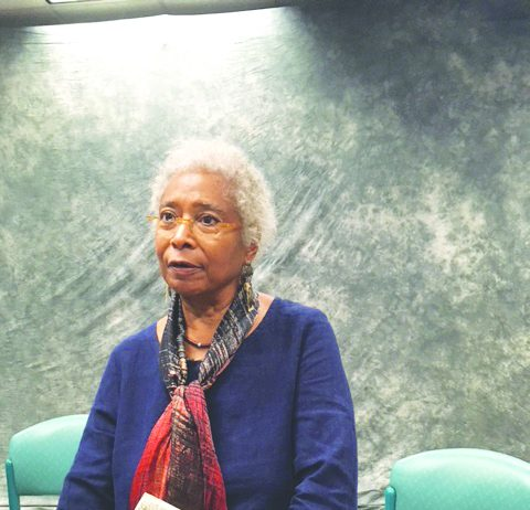 Literary icon and activist, Alice Walker, was at New Rochelle High School last Wednesday discussing her newly released book of poetry, TAKING THE ARROW OUT OF THE HEART, along with her writing craft and philosophy of life, among many other pearls of wisdom.