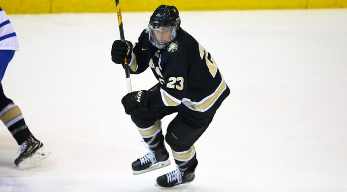 Army West Point's Mason Krueger helped defeat Robert Morris on the road.