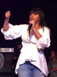 Koryn Hawthorne rocked the crowd during the MetroPCS Gospel Explosion Concert at the Circle of Sisters Expo