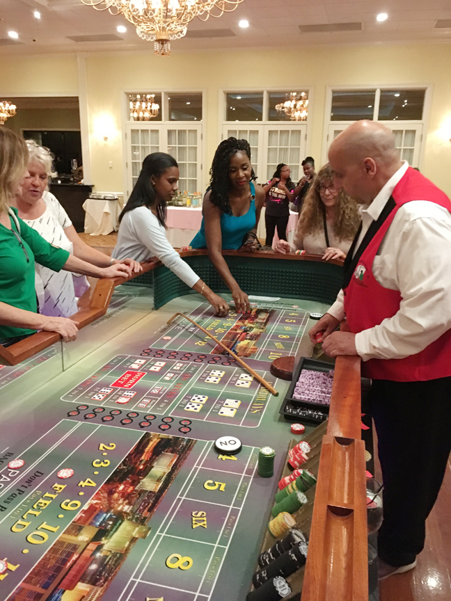 Ladies played casino games during the annual Girls Night Out event.