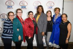 New York State Attorney General Candidate Letitia James, center, poses with members of the Latino Democratic Committee of Orange County during the organizations Fifteenth Annual Fall Dinner Dance at Cafe Internationale in Newburgh, NY on Saturday, October 13, 2018.