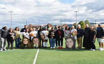 Four different players netted a goal for the Mount Saint Mary College Women's Soccer team as it cruised to a 5-0 victory against Old Westbury on Senior Day.