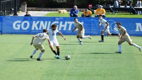 The Mount Saint Mary College Men's Soccer team pushed its unbeaten streak to five matches and remained unblemished in conference play on Sunday with a convincing 6-0 road win at Yeshiva.