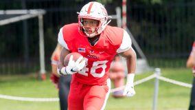 Sophomore Mekhai Johnson scored his first three career rushing touchdowns.