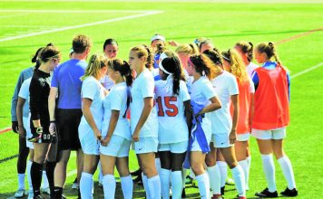 The SUNY New Paltz women's soccer team put up an aggressive fight against Plattsburgh State Saturday, but ultimately fell to the Cardinals, 3-0.