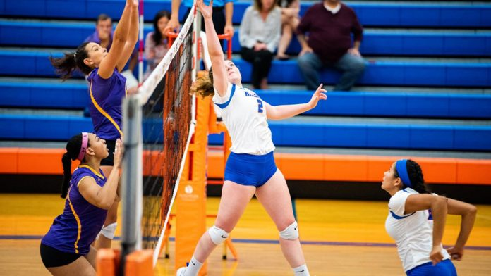 The State University of New York at New Paltz women's volleyball team did not complete a weekend sweep.