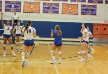 After dropping a well-fought first set, the State University of New York at New Paltz women's volleyball team handled Rowan University for three sets.