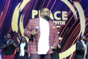 "Grammy Award Winner Bishop Hezekiah Walker blessed the crowd at ""Peace Starts with Me""."