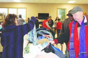 The community received free clothing at We Are Newburgh's 4th Annual Thanksgiving Giveback.