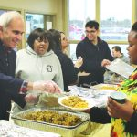 Hundreds of people showed up to We Are Newburgh's 4th Annual Thanksgiving Giveback on Sunday, November 18th at the Newburgh Activity Center. Assemblyman Jonathan Jacobson served hot Thanksgiving meals during the 4th Annual Thanksgiving Giveback.