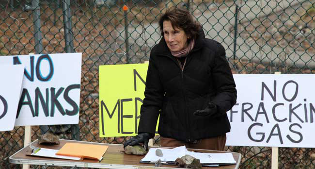 Environmentalist and community activist Sandra Kissam is opposing the plant.