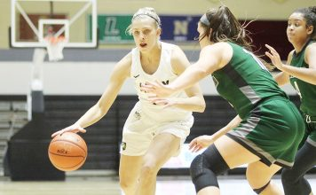 Army hung around against American and took a lead early in the fourth quarter, but a 10-1 run helped the Eagles earn the 61-51 victory on Saturday afternoon in Patriot League women's basketball action.