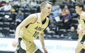Army Black Knights Jacob Kessler scored eight points with seven rebounds.