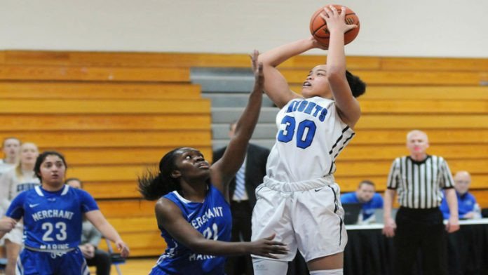 Mount Senior Kayla Cleare finished with a double-double, scoring 12 points and securing 13 rebounds to lead the Knights.