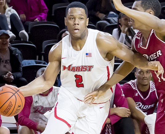 Brian Parker started the day in seventh place all-time on Marist's career scoring list, and ended it in fifth. He now has 1,601 career points.