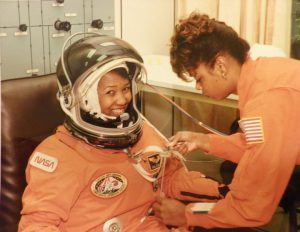 McDougle with Mae Jemison on launch day. Photo: NASA