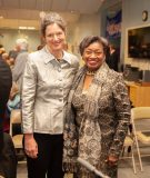 Senator Jen Metzger (SD-42) [left] poses with Senate Majority Leader, Andrea Stewart-Cousins [right] after Metzger took the oath of office. Photo: Carl Cox Studios, Rosendale