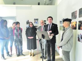 James Skoufis (D-39), flanked by local politicians as well as members of the Newburgh LGBTQ Center and local transgender activists, announces the details of and recent passage at the State Assembly of two critical bills: The Gender Expression Non- Discrimination Act (GENDA) and a ban on gay conversion therapy.