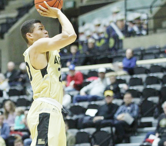 The Army West Point men's basketball team fell to service-academy rival Navy, 79-68, in a Patriot League contest on Saturday afternoon at Alumni Hall.