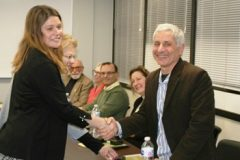 Jolynn Dunn, DRC Regional ADR Coordinator and Donna Ramlow, DRC Executive Director recognizing Doug Scherma, Mediator.