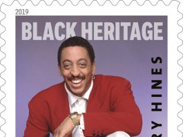 The U.S. Postal Service celebrated the life and legacy of award winning entertainer Gregory Hines when it inducted him as the 42nd honoree in the Black Heritage Stamp series during a first-day-of-issue ceremony at Peter Norton Symphony Space, on the Upper West Side of Manhattan.