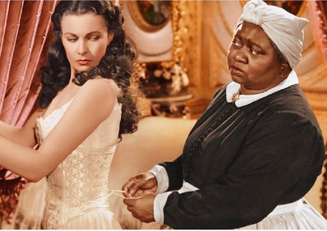 Hattie McDaniel (right) in the movie classic Gone with the Wind. Photo: Face2FaceAfrica