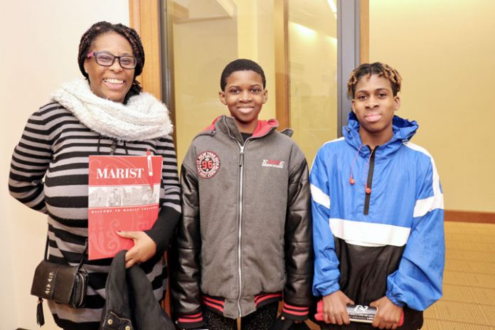 Scholars from Newburgh Free Academy Main's campus who are part of the inaugural class of the NECSD Marist ECHS participated in an on-campus orientation recently. Professors and students from Marist College welcomed the group to campus, gave a presentation about the various programs that are offered through the college's Computer Science Department, and welcomed our scholars and their families to tour the Hancock Technology Center.
