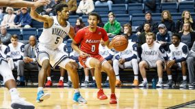The Marist men's basketball team (12-14 overall, 7-7 Metro Atlantic Athletic Conference) extended its winning streak to four with a 75-67 triumph over Monmouth (10-18, 9-6) at Ocean First Bank Center on Sunday afternoon.