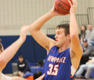 SUNY New Paltz men's basketball team fell on the road against SUNY Geneseo Saturday, 62-58.