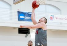 Paul Grinde became the 17th player in Vassar College men's basketball history to reach the 1,000-point plateau