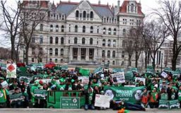 They came from Kingston, Poughkeepsie, Middletown, Newburgh, Warwick and points in between to travel by bus to Albany last Tuesday to join the Green Light NY movement.