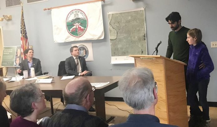 Senators Jen Metzger (SD-42) and James Skoufis (SD-39) held a public hearing last week in New Paltz on the Climate and Community Protection Act (CCPA), S2992--proposed state legislation to comprehensively address climate change. Over 75 people attended, with 41 providing testimony.