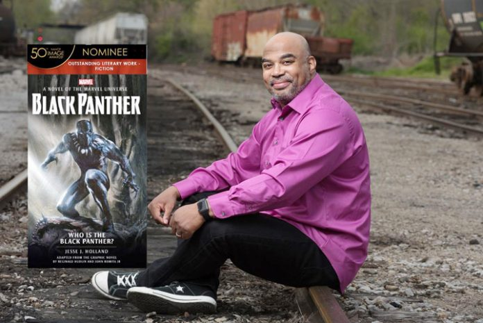 "Jesse J. Holland, best-selling, celebrated author has been nominated for an NAACP Image Award for his original book ""Black Panther: Who is the Black Panther?"""