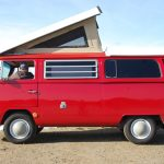"""You never know these days whether the engine inside an old VW bus or other classic car is the original gas guzzler or a new """"restomod"""" all-electric one — unless you hear it rumbling at a stop light. Photo: Todd Lappin, FlickrCC."""
