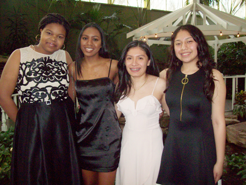 Candidates for the 2019 Boys and Girls Club of America Youth of the Year Award from the Newburgh branch included from left; Joy-Ann Stewart (junior at NFA Main Campus), Nina Zylberberg (senior at NFA Main Campus), Gema Vidals Herrera (senior at NFA North) and Jaslyn Martinez (junior at NFA Main Campus.) Each was highly talented in the 3 principles of the organization: academics, community service and healthy lifestyle.