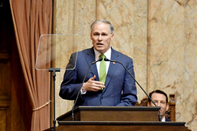 Washington State's governor Jay Inslee, one of the first Democrats to declare his candidacy for the White House in 2020, aims to make climate change a central issue in the 2020 election. Photo: Office of the Governor, Washington, FlickrCC