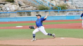 Mount Saint Mary College pitcher Christian Spano earned the win for game one after going 7.0+ innings, allowing eight hits and two runs.
