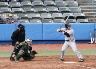 Blue Knight Ryan Lutinski finished with two hits and three RBI's.